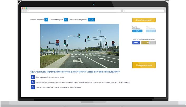 Interfejs aplikacji zgodny z interfejsem nowego egzaminu państwowego